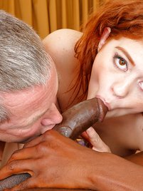Alice Green Fucked Hard By a Big Black Cock and Hubby Sucks It
