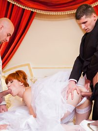 Talk about here CUMS the bride
