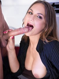 Secretary Barbara Bieber Puts the Squeeze on Her Boss
