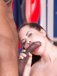 Cassie Fire, after a hot shower with Sienna Day has her first Interracial ride