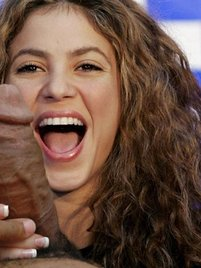 All that Shakira needs to be happy is a lot of hard giant cocs just for her!