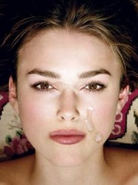 Sexy Keira Knightley likes when guys cum all over her pretty face!